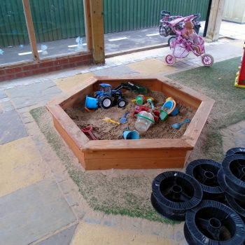 Hemingbrough Pre-School - Outside Play Area- Sand Pit
